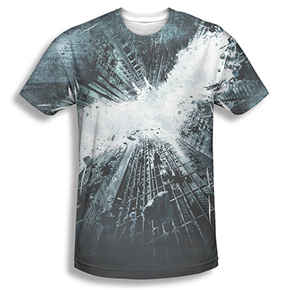 Batman Dark Knight Movie Poster Sublimation Black Tee Shirt