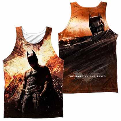 Batman Dark Knight Rises Fire Poster Sublimation Tank Top