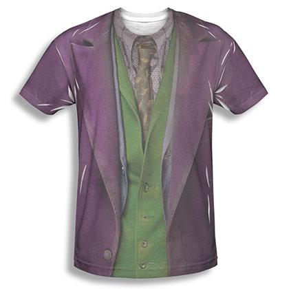 Batman Men's Purple Sublimation Joker Costume T-Shirt