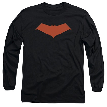 Batman Red Hood Logo Long Sleeve Tshirt