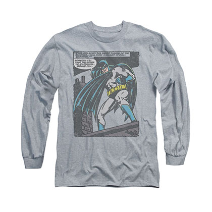 Batman Bat Origins Gray Long Sleeve T-Shirt