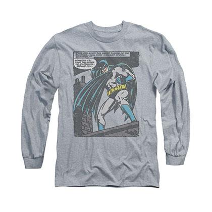 Batman Bat Origins Gray Long Sleeve T-Shirt