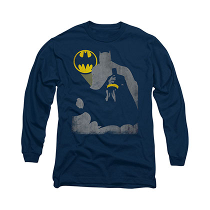 Batman Bat Knockout Blue Long Sleeve T-Shirt