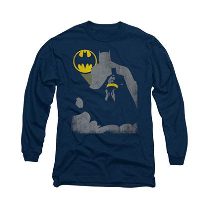 Batman Bat Knockout Blue Long Sleeve T-Shirt