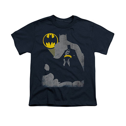 Batman Bat Knockout Blue Youth Unisex T-Shirt