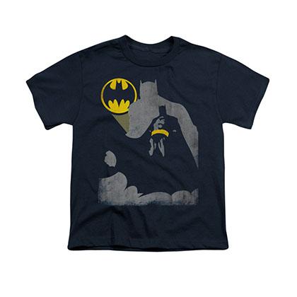 Batman Bat Knockout Blue Youth Unisex T-Shirt