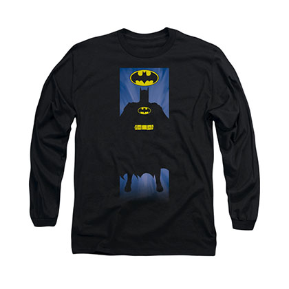 Batman Block Black Long Sleeve T-Shirt