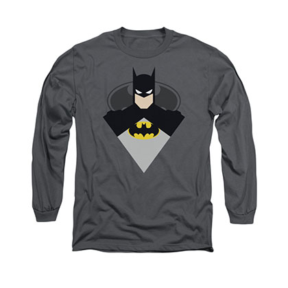 Batman Simple Bat Gray Long Sleeve T-Shirt
