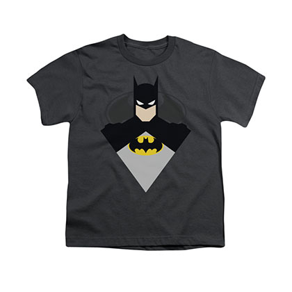 Batman Simple Bat Gray Youth Unisex T-Shirt