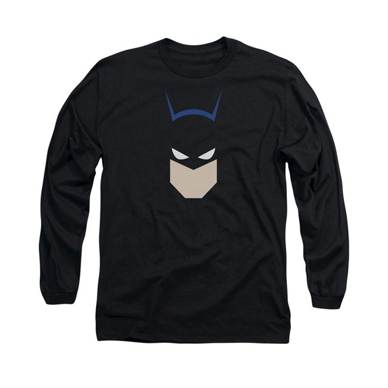 Batman Bat Head Black Long Sleeve T-Shirt
