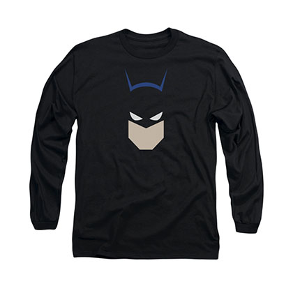 Batman Bat Head Black Long Sleeve T-Shirt