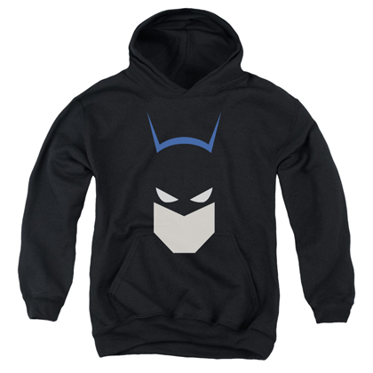 Batman Cartoon Head Youth Hoodie