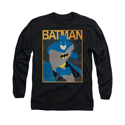 Batman Simple Poster Black Long Sleeve T-Shirt