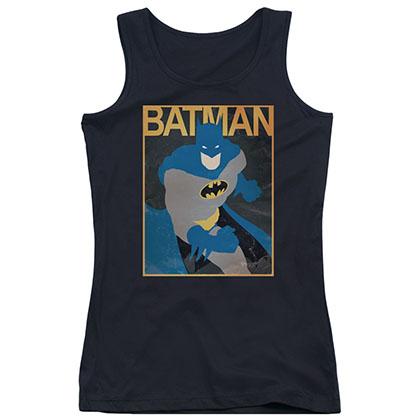 Batman Simple BM Poster Black Juniors Tank Top