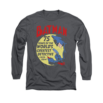 Batman Detective 75 Gray Long Sleeve T-Shirt