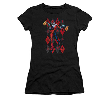 Batman Harley Quinn Juniors Black Pow Tee Shirt