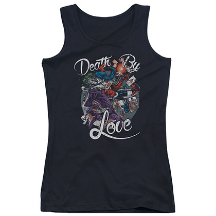 Batman Death By Love Black Juniors Tank Top