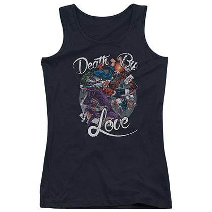Batman Death By Love Black Juniors Tank Top
