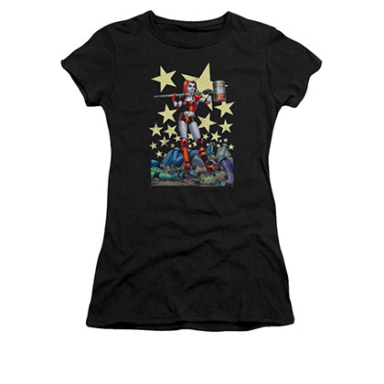 Batman Harley Quinn Juniors Black Hammer Time Tee Shirt