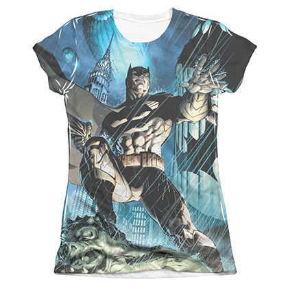 Batman Dark Knight Sublimation Juniors Tee Shirt