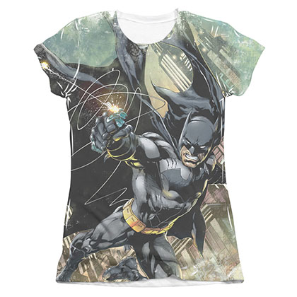 Batman Catch Sublimation Juniors Tee Shirt