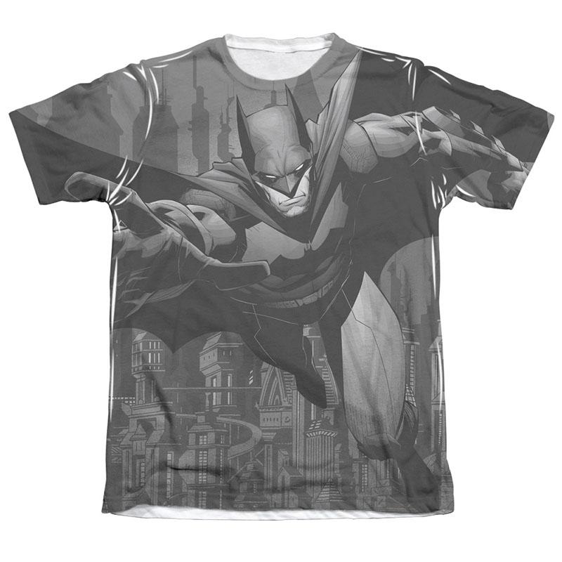 Batman Men's Gray Race Sublimation Tee Shirt