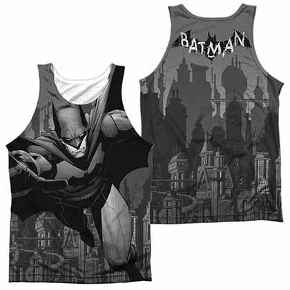 Batman Grey Race Sublimation Tank Top
