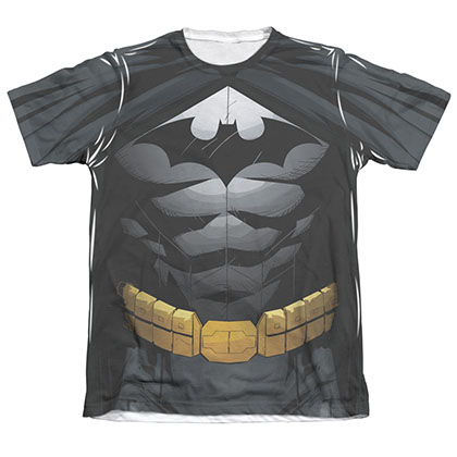 Batman Men's Uniform Costume Sublimation Tee Shirt