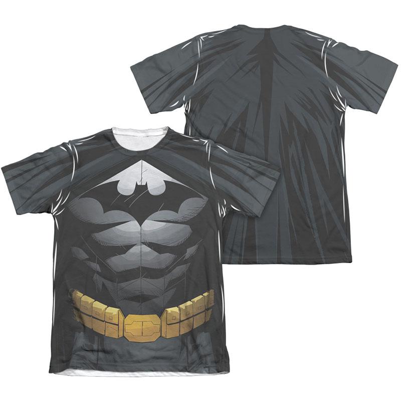 Batman Men's Uniform Costume Sublimation Two-Sided Tee Shirt