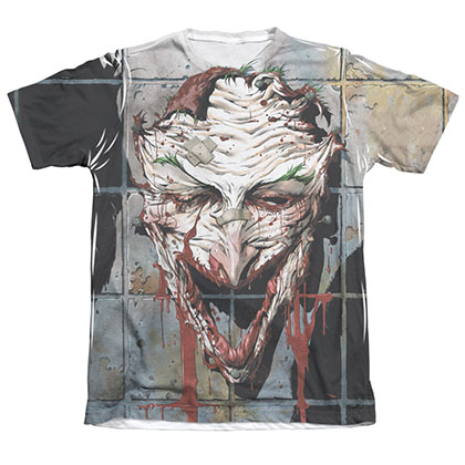 Batman Joker Men's Sublimation Smile Tee Shirt