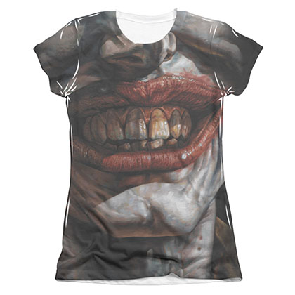 Batman Joker Asylum Sublimation Juniors Tee Shirt