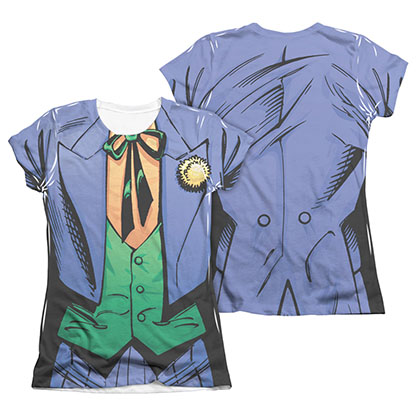 Batman Joker Costume 2-Sided Sublimation Juniors Tee Shirt