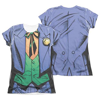 Batman Joker Costume 2-Sided Sublimation Juniors Tee Shirt