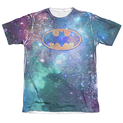 Batman Men's Galaxy Logo Sublimation T-Shirt