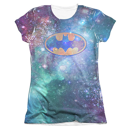 Batman Juniors Galaxy Symbol Sublimation Tee Shirt