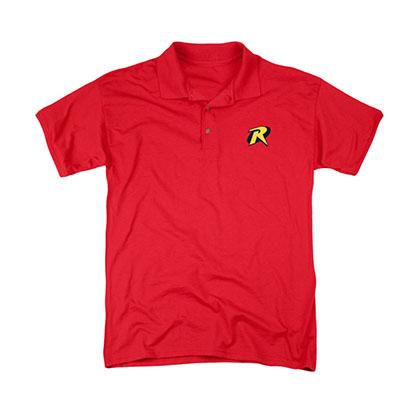 Batman Red Robin Embroidered Logo Polo Shirt