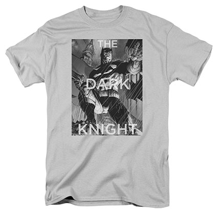 Batman Fighting The Storm Gray T-Shirt