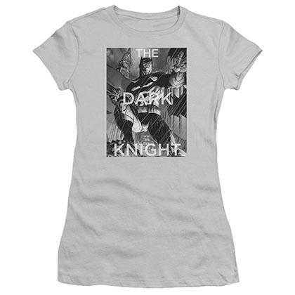 Batman Fighting The Storm Gray Juniors T-Shirt