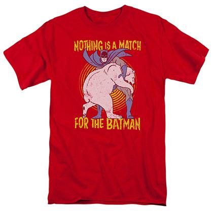 Batman Bear Wrestle Red T-Shirt