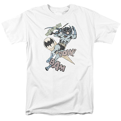 Batman Halftone Swing White T-Shirt