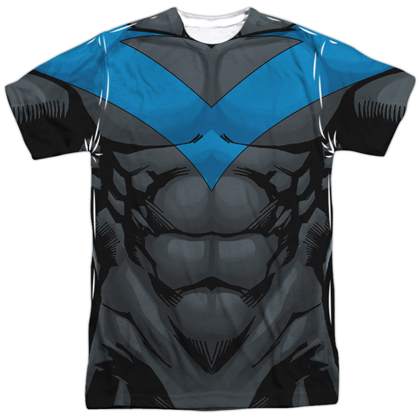 Nightwing Men's Sublimated Front and Back Print Costume Tee