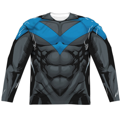 Nightwing Long Sleeve Costume Tee