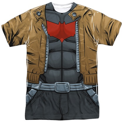 Batman Redhood Front and Back Print Costume Tee