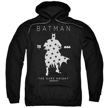 Batman Star Silhouette Black Pullover Hoodie