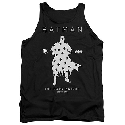 Batman Star Silhouette Black Tank Top