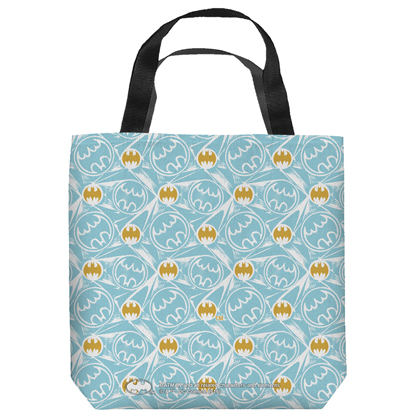 Batman Repeating Logos Tote Bag