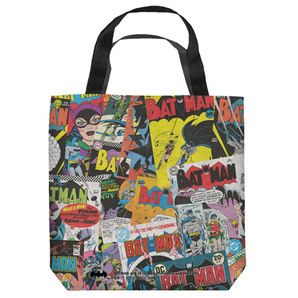 Batman Vintage Comics Tote Bag