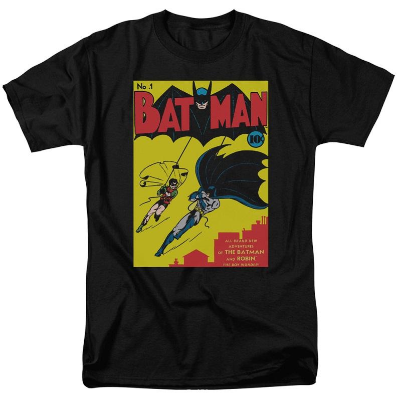 Batman First Cover Black Tshirt