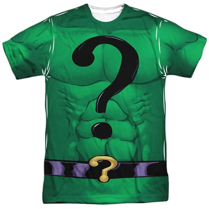 The Riddler Batman Villain Front and Back Print Costume Tee