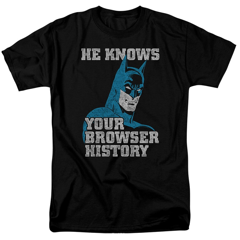 Batman Knows Your Browser History Tshirt